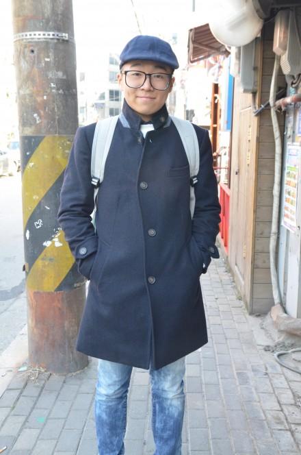 STREET FASHION: BLUE TONES, HONGDAE, SEOUL