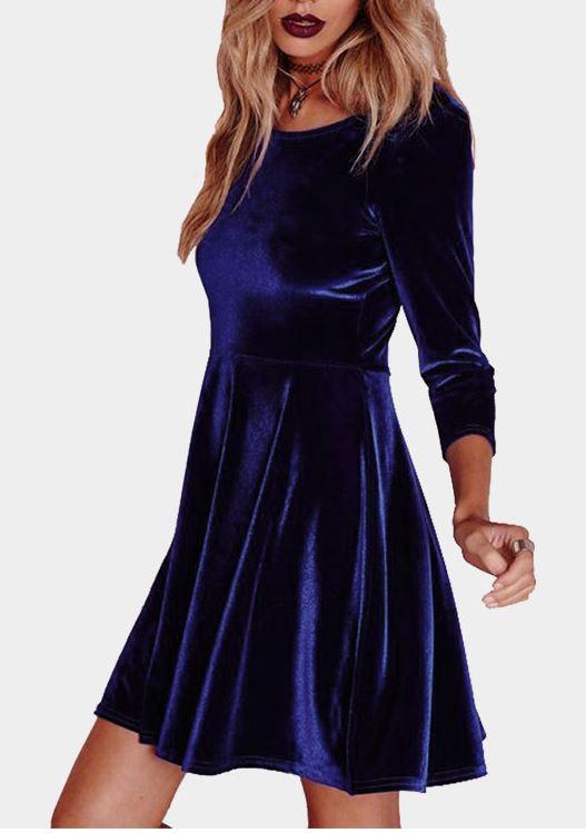 velvet dress, Skater dress